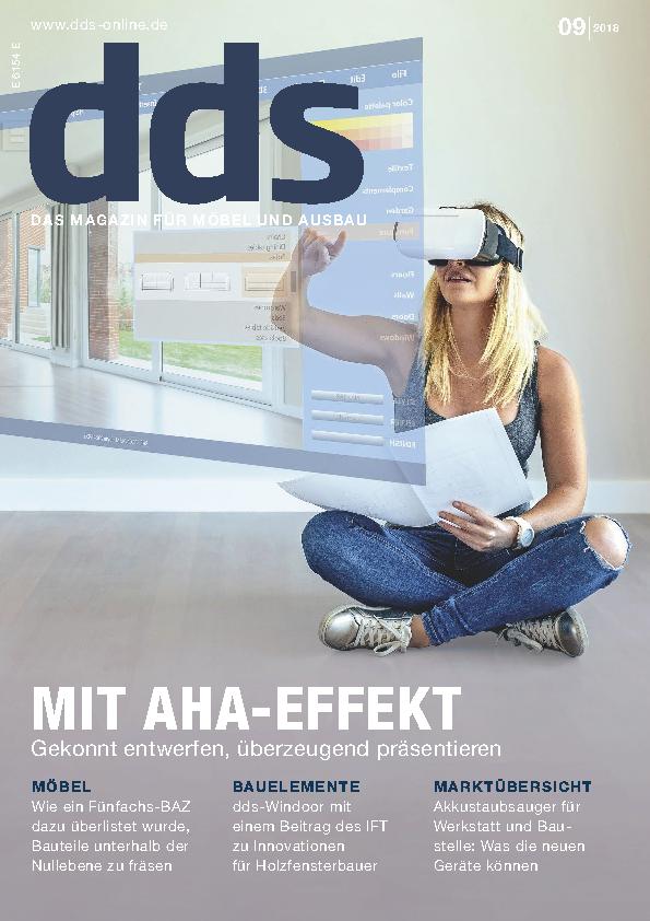 DER SCHREINER-JAHRESWECHSELKolumne in der dds Ausgabe 09/2018